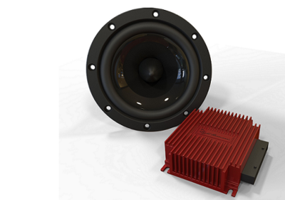 "Lightharmonic S4D.Sub 8"" subwoofer and 600W Amp set"